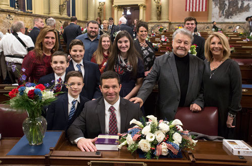 Struzzi Sworn in to Serve 62nd Legislative District - Lawmaker takes oath during Capitol ceremony